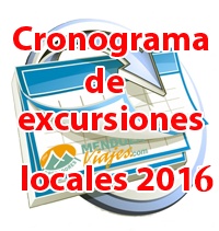 Cronograma excursiones 2017